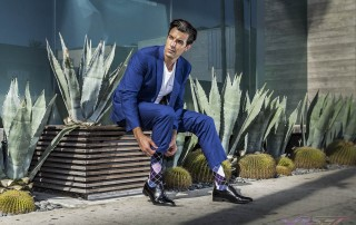 Model Daniel Sobieray for Sockbin.com NY brand promotion campaign, styling Gus Castaneda by top fashion photographer Los Angeles & Orange County Video Production David Victory