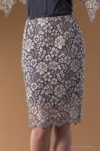 Sally Alexander Designs Apparel Clothing Details brown floral lace skirt