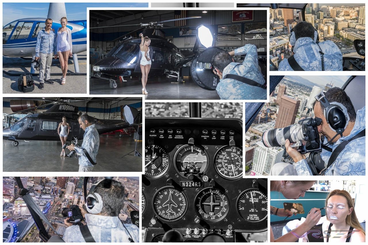Behind-Scene-R44-Raven-II-Helicopter-Aerial-Photography-Downtown-LA-Model-Marissa-Centrella-Top-Fashion-Photographer-Los-Angeles-Orange-County-Video-Production-David-Victory