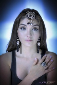Black And Crystal Stone Jewlry Headpiece Earrings Ring Orange County Los Angeles Fashion Photographer