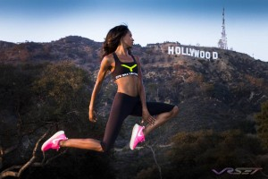 While shooting in Hollywood Hills for for a new EU sportswear fashion line with model Krystle Wilson, we tried levitation and it worked!