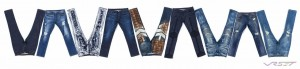 E-commerce studio photography of lay flat men's jeans composite image for GRIOT Clothing