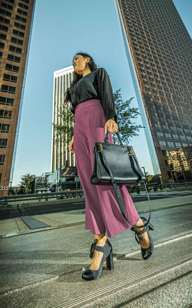 Jennie Jaturapatporn Black Leather Bag Lifestyle Fashion Photographer Los Angeles David Victory VRset