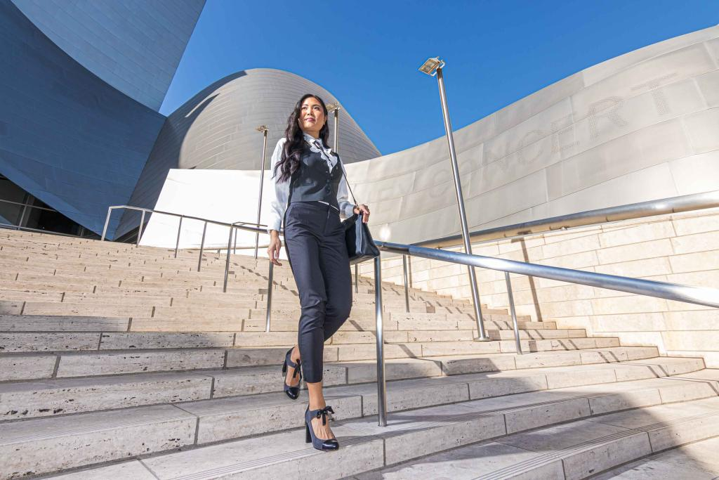 Jennie Jaturapatporn wearing Pronn Office Shoes Fashion Photographer Los Angeles David Victory VRset
