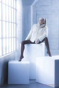 Model Anna Kudryavtseva Miss Russia Finalist Wearing Faux Mink Coat, Makeup & Styling: LVISAGE, by Top Fashion Photographer Los Angeles & Orange County Video Production David Victory