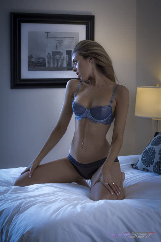 Model Cali Wearing Laced Lingerie, Bedroom Boudoir Portfolio Shot, by Top Fashion Photographer Los Angeles Orange County Video Production David Victory