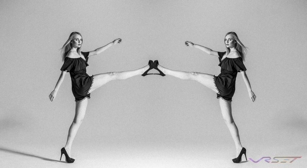 Model Olga Samsonova Portfolio Studio BW Mirror Fashion Photographer Los Angeles Orange County Video Production David Victory