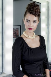 Model Sabrina Janssen Wearing Sally Alexander Black Dress Top Fashion Photographer Los Angeles Orange County Video Production David Victory