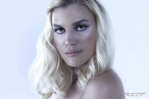 """Model Yvone Szefer portrait """"Blonde on Ice"""" by top fashion photographer Los Angeles & Orange County Video Production David Victory. Hair/makeup by Reyna Khalil"""