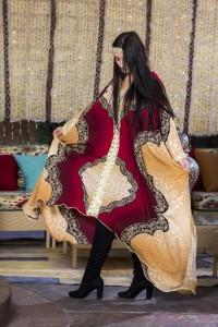 Warm tone patterned Caftan LookBook by Top Fashion Photographer Los Angeles & Orange County Video Production David Victory