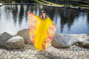 Canary yellow Caftan LookBook by Top Fashion Photographer Los Angeles & Orange County Video Production David Victory
