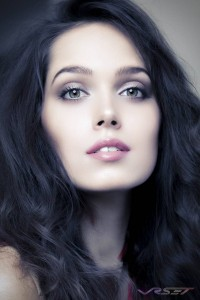 Supermodel Nadya Lavrenova Portrait Headshot by Orange-County Los Angeles Fashion Photographer David Victory