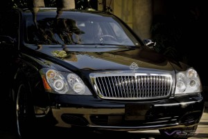 The Maybach 57 is such a large car that can not be justly photographed from one angle, hence the heavy front only visage in this telephoto shot. Advertising…