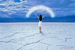 Another photo of the natural supplement campain, with the model standing in the salt flats. Advertising photography in Los Angeles