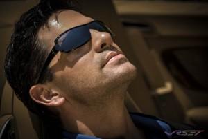 Male model profile headshot catching the sun. Model portfolio photography in L.A.