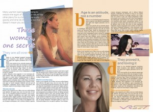 Three model shots picked for this two page spread beauty article. Advertising photographer in Orange County