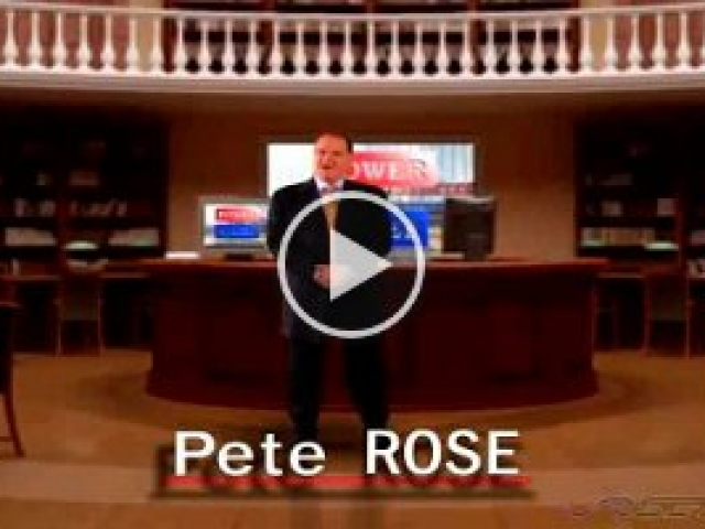 Pete.Rose.Tax  VRset produced this regional tax TV spot on a Las Vegas sound stage featuring the  Baseball  legend on green screen and virtual set
