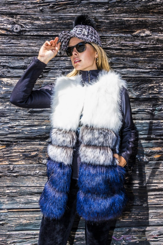 Lookbook Faux Fur Vest Coat Female Model Charred Wood Top Fashion Photographer Los Angeles Orange County Video Production David Victory