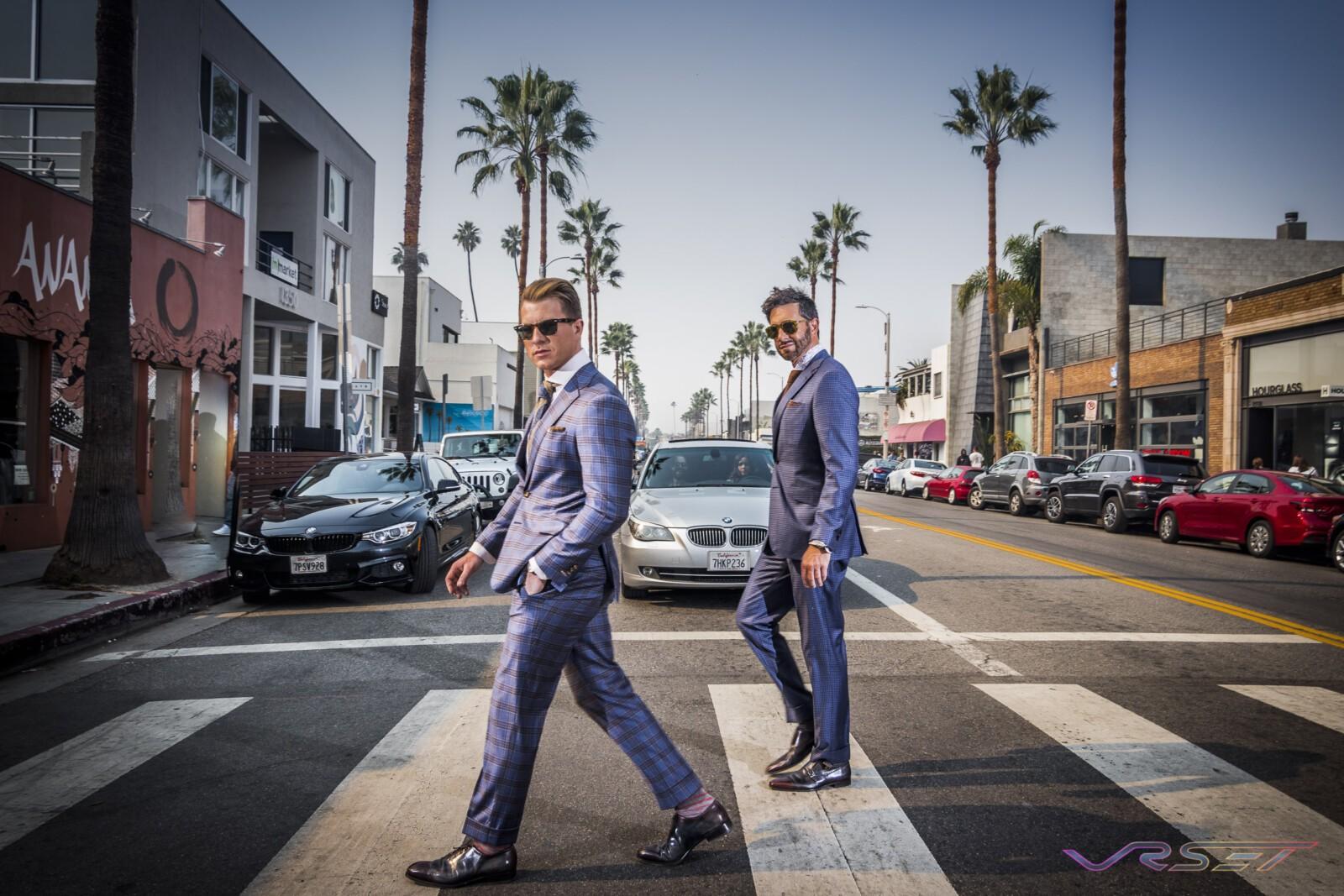 Designer Daniel George Men's Bespoke Custom Suits Lifestyle Top Fashion Photographer Los Angeles Orange County Video Production David Victory