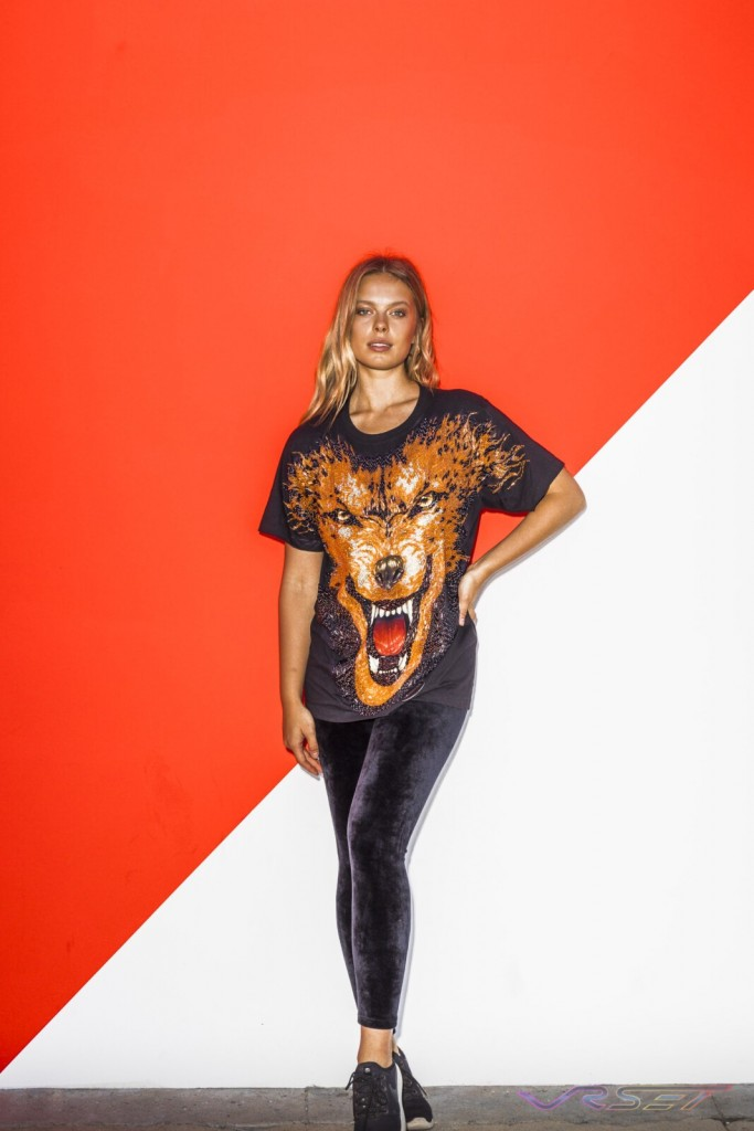 Lookbook Animal Print Black Tshirt Blonde Female Model Top Fashion Photographer Los Angeles Orange County Video Production David Victory