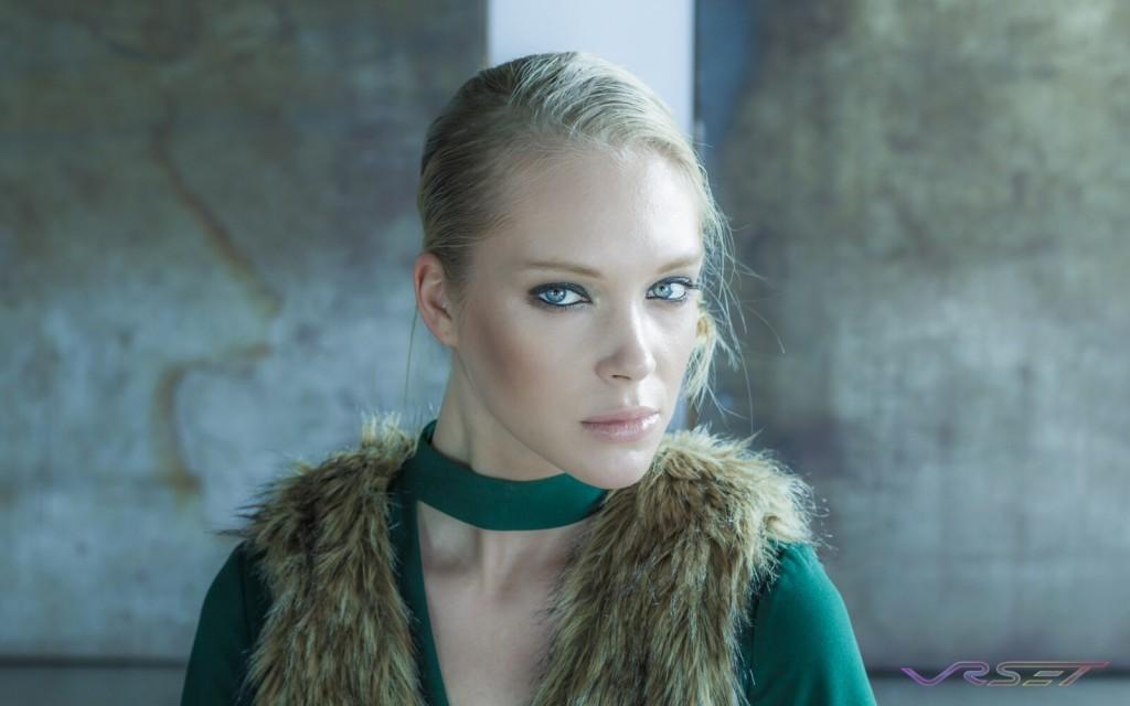 Model Anna Kudryavtseva Headshot Green Dress Top Fashion Photographer Los Angeles Orange County Video Production David Victory