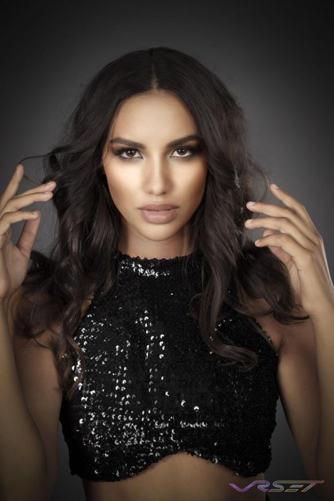 Model Dominique Muscianese Glamour Studio Headshot