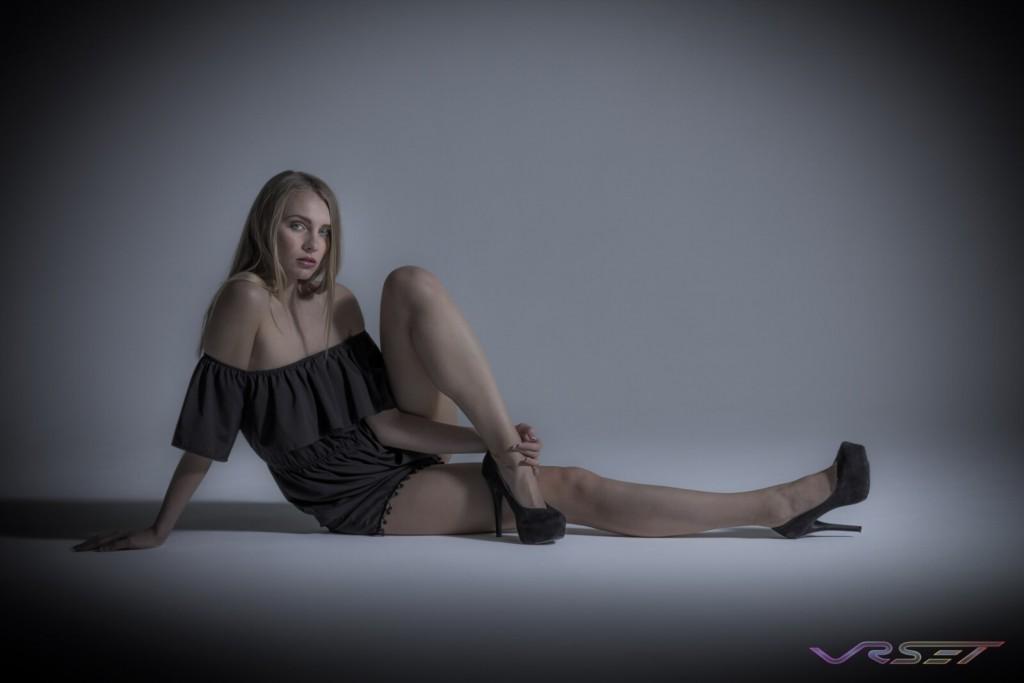 Model Olga Samsonova Black Dress Portfolio Studio Fashion Photographer Los Angeles Orange County Video Production David Victory