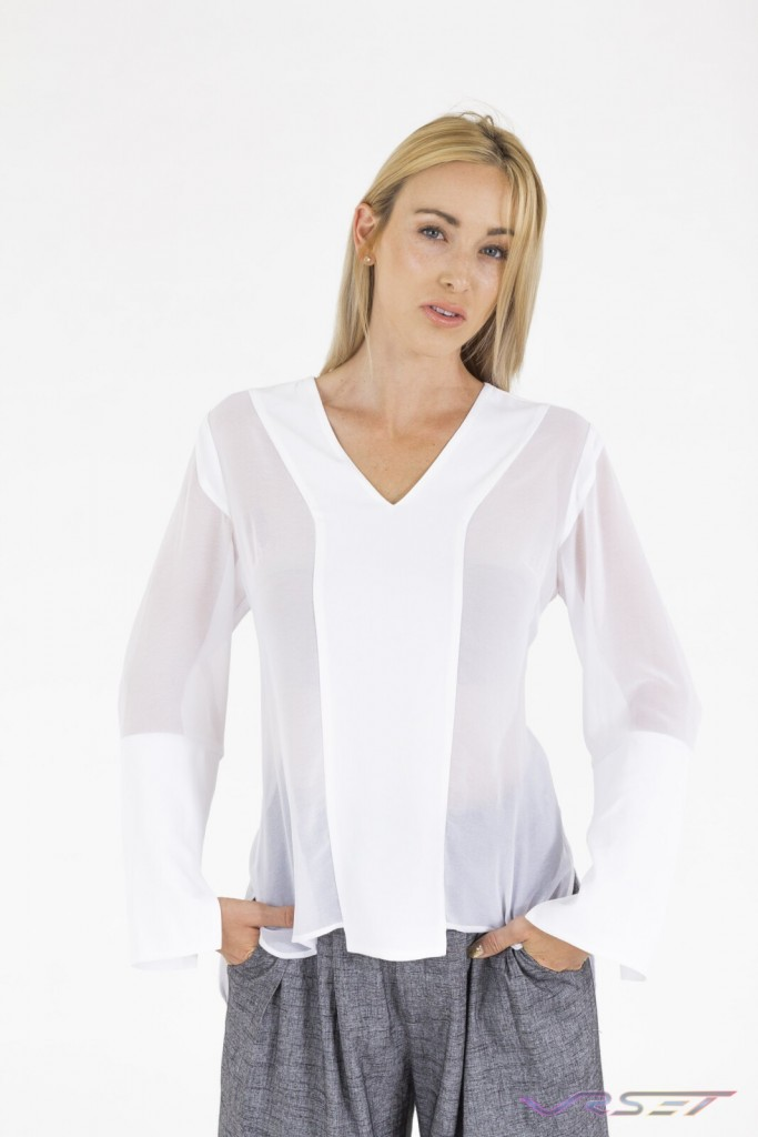 Solid and See Through White Blouse Amazon ecommerce Top Fashion Photographer Los Angeles Orange County Video Production David Victory