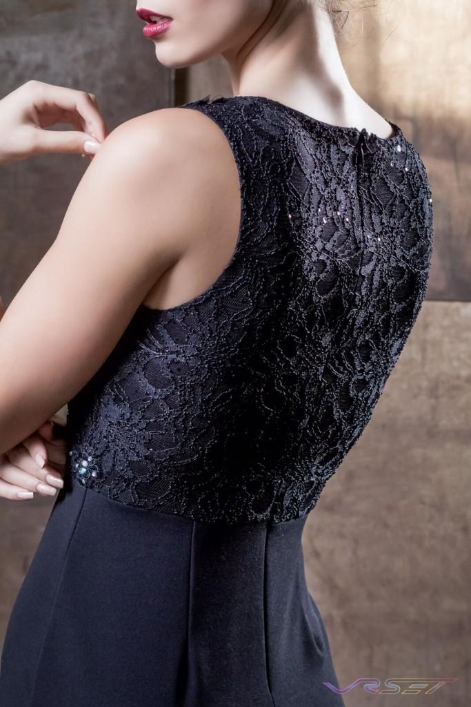 Detail Black Sequin Top Evening Dress Designer Bonnie Kim Zoe Couture Studio Catalog Fashion Photography LA