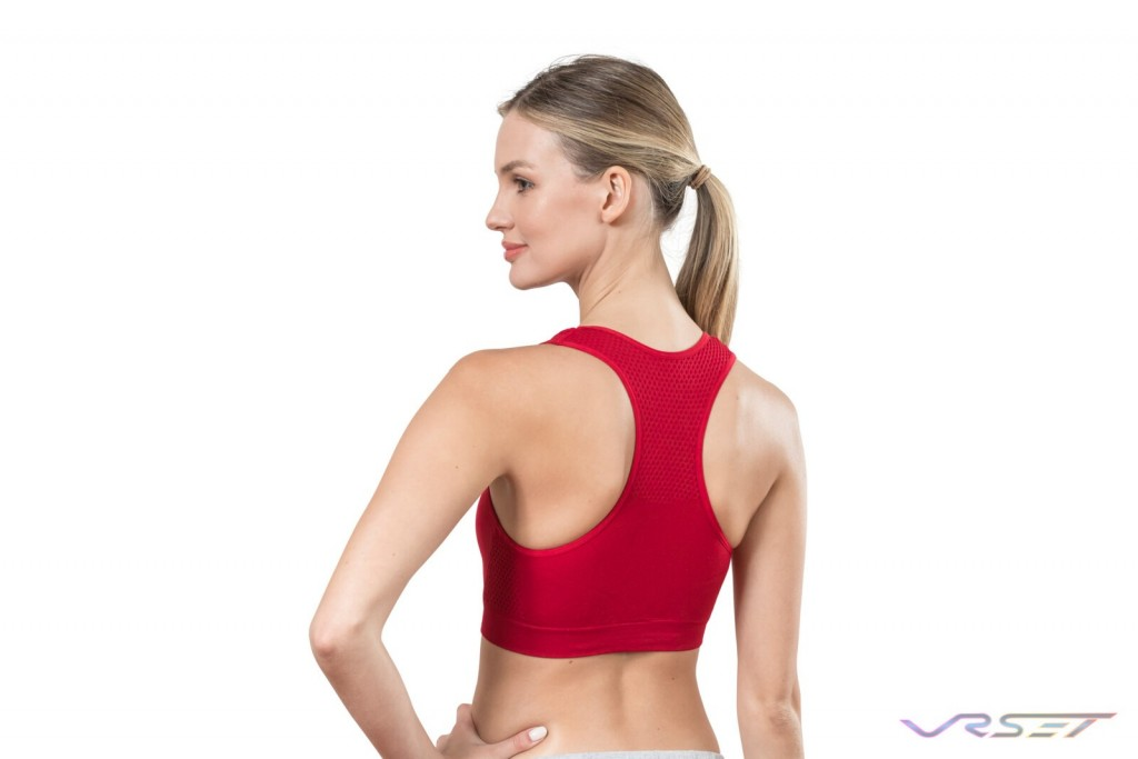 Amazon Shopify eCommerce Red Sports Bra Back Lamour Intimates Studio Model Photography Los Angeles
