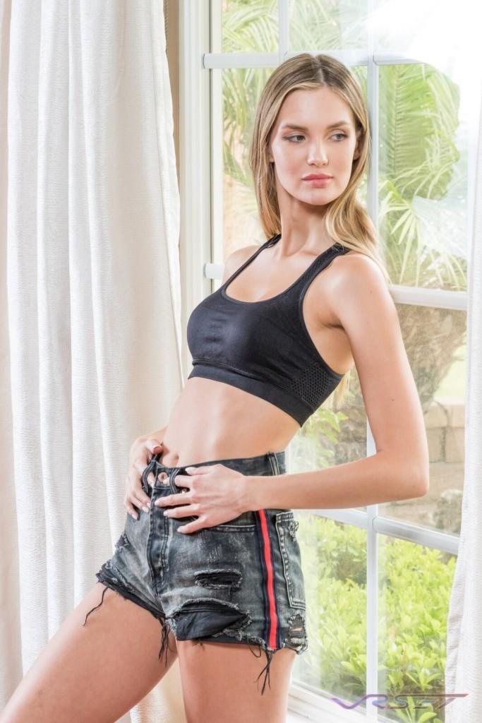 Model Alena Nazarova Black Sports Bra Lamour Intimates Lifestyle Photography Los Angeles