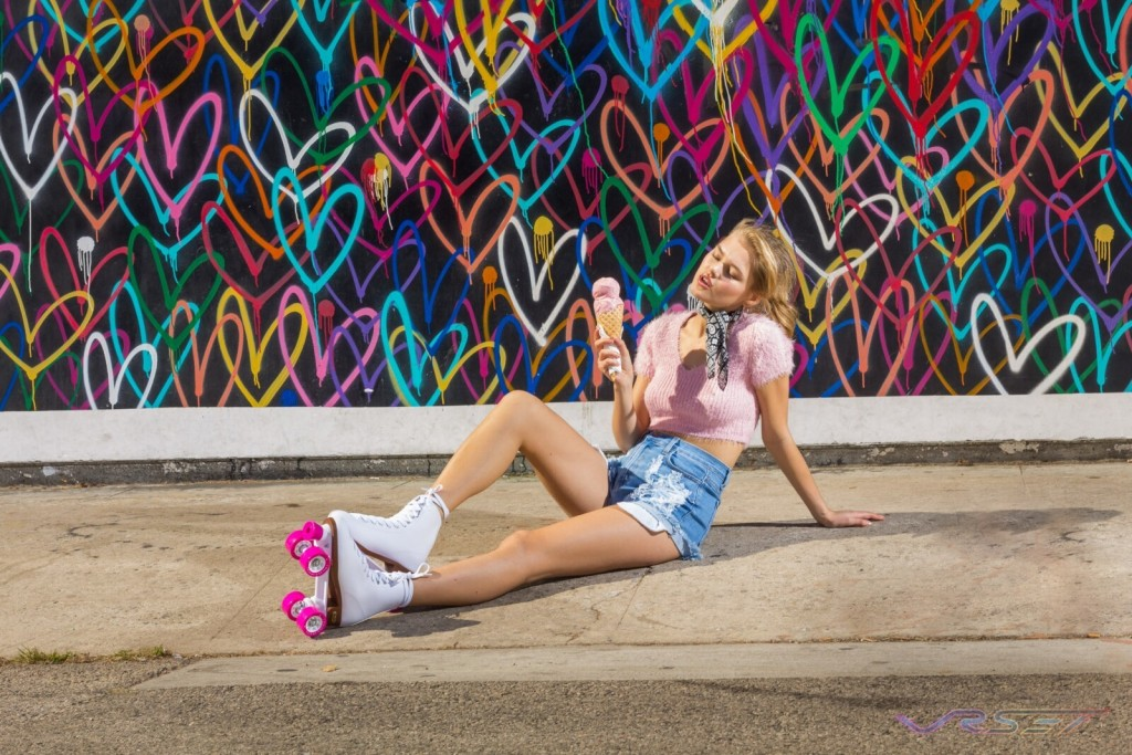 Womens Spring Collection Lifestyle Photography Pink Ice cream Los Angeles