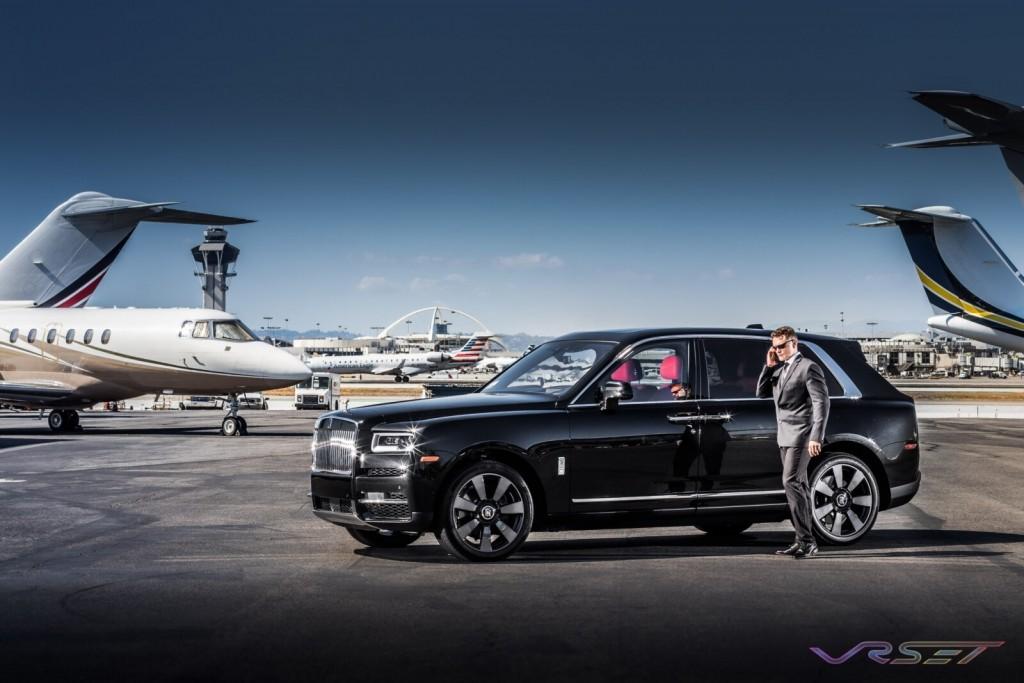Model John Grant BHCR Rolls Royce Cullinan SUV LAX Tarmac Commercial Photographer Los Angeles