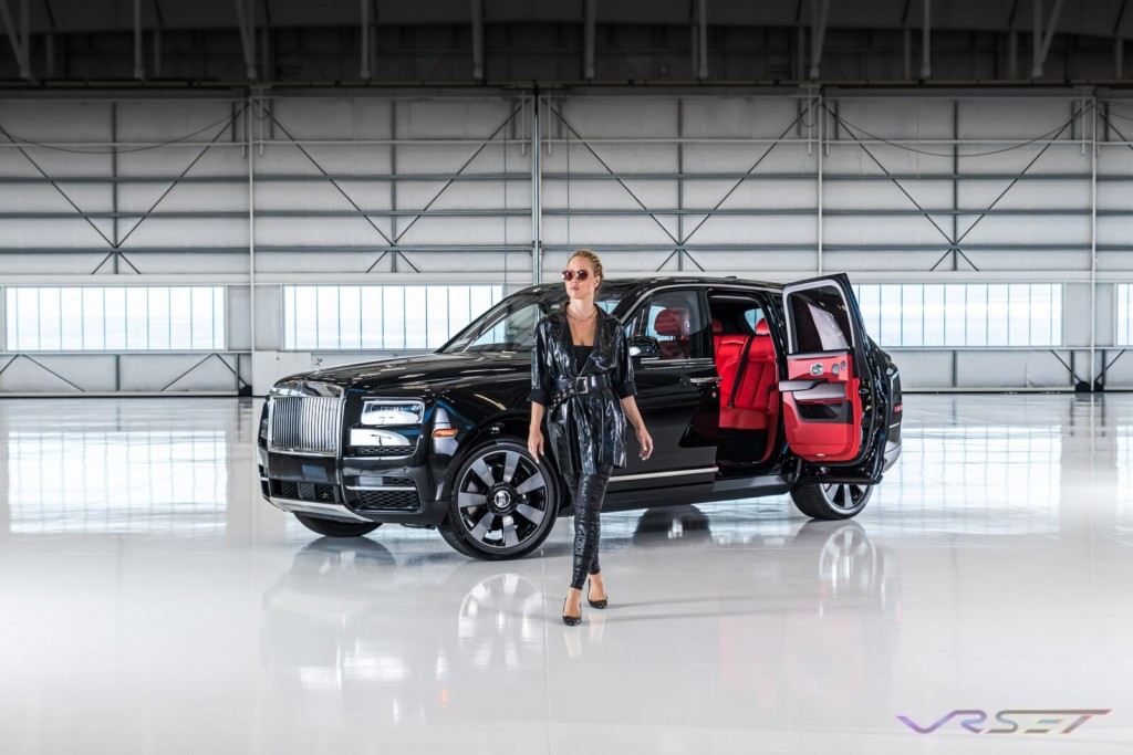 Model Techi Martin Rolls Royce Cullinan SUV Commercial Studio Photographer Los Angeles